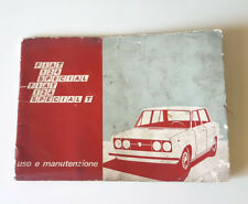 Manuale uso e manutenzione FIAT 124 SPECIAL - FIAT 124 SPECIAL T ORIGINALE EPOCA