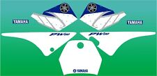 Yamaha PW80 PW 80 blue factory style graphic / decal kit FREE UK SHIPPING