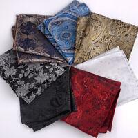 Handkerchief Wedding Polyester Printed Hanky Men's Fashion Pocket Square Towel