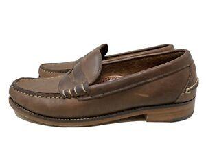 Oak Street Bootmakers Beefroll Penny Loafer Natural Chromexcel Size 7.5 D