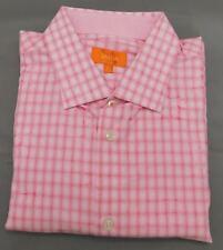 Tallia Pink Floral Check Long Sleeve Dress Shirt - Large - 16 1/2