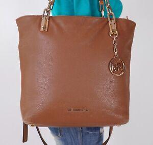 MICHAEL KORS Large Brown Leather Shoulder Hobo Tote Satchel Purse Bag