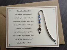 Thank You Teacher Personalised Poem Magnet Flower Bookmark. Nursery School SVH