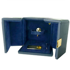 HARRY WINSTON - BLUE LEATHER WATCH WINDER BOX + PUSH PIN
