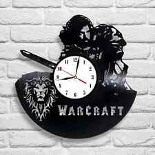 Warcraft design vinyl record clock home decor art gift club playroom office 1