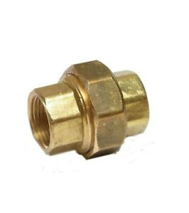 3/4 Npt Female 3 Piece Union Coupling Brass Pipe Fitting Air Water Oil Gas Fuel