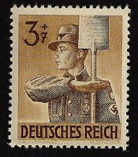 1943 Nazi Germany Hitler Youth -Jugand Swastika Armbend Youth Brown Mint Stamp