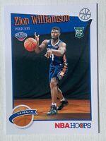 2019-20 PANINI HOOPS 🔥ZION WILLIAMSON 🔥TRIBUTE RC #296 PELICANS Rookie ALLSTAR