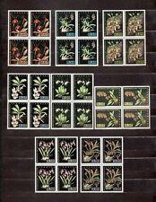 VENEZUELA 1962 Orchids Scott 804-811 C794-C803 MNH 18 Block of 4 Free Shipping