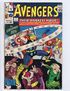 Avengers #7 Marvel 1964 The Darkest Hour  !