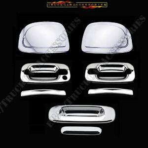 For CHEVY Silverado GMC Sierra 1999~2006 Chrome Handle Nk Mirror Tailgate Covers