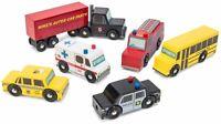 Le Toy Van CARS & CONSTRUCTION NEW YORK CAR SET Wooden Toy BN