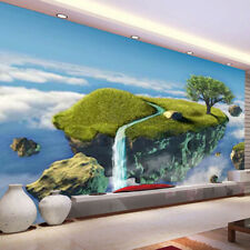 3D Floating Island Self-adhesive Living Room Wallpaper TV Background Wall Murals