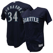 Felix Hernandez Seattle Mariners Majestic Navy Cool Base Jersey Youth S