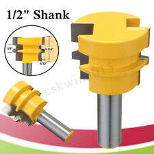 1/2'' Shank Glue Joint Router Bit Medium Reversible For Woodworking Cutter Tool