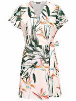 4/10 NEU ONLY Damen Wickel Kleid onlBARBARA S/S WRAP DRESS Shirt kurz Gr. M / 38