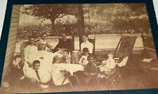 Rare Antique American Family & Toy Doll - & Group Men Double Sided Cabinet Photo