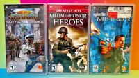 Medal of Honor SOCOM Strike Syphon Filter Sony PSP Playstation Portable Game Lot