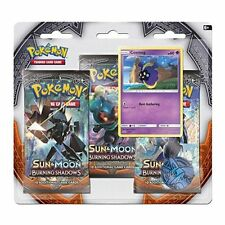 Pokemon Sun & Moon Burning Shadows 3-Pack Booster Blister Pack Cosmog Promo