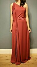 "Halston Heritage long dress drape ""Genetic"" sangria size 8US/12UK"