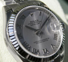 Rolex Datejust 178274 Midsize Steel & White Gold Jubilee Silver Roman Dial 31MM