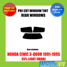 HONDA CIVIC 3-DOOR 1991-1995 35% LIGHT REAR PRE CUT WINDOW TINT