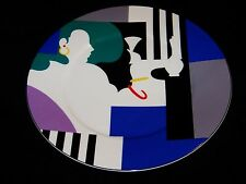 MIKASA MAXIMA  Memphis Lady in Front Row Modern Abstract Art Charger Chop Plate