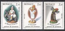 Monaco 1990 Christmas/Crib Figures/Figurines/Donkey/Baker/Animals 3v set n39101