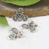 30pcs Tibetan Silver color bicycle charms H0886