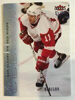 2009-10 Fleer Ultra Ice Medallion - DAN CLEARY #53 Detroit Red Wings /100 SP