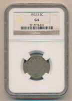 1912 S Liberty Nickel 5C, NGC G6