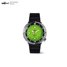 Sharkey SBBN015 Men's Diver Watch Stainless Steel Tuna Can Homage Seiko Green