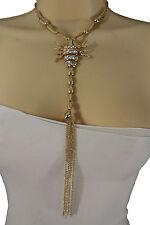 Women Gold Necklace Metal Big Scorpion Fashion Jewelry Pendant Charm Long Fringe