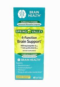 Spring Valley 4-Function Brain Support 400 mg Longvisa 60 Softgels