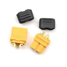 2x Amass XT60+ Plug Connector With Sheath Housing 1 Male 1 Female Hot JB