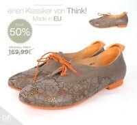 Think! GUAD Damen Halbschuhe **Made in EU rustikalen Stil Washout-Effekt SALE