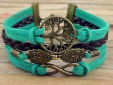 Infinity Owls Tree of Life Braided Bracelet