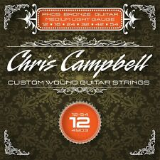 3 SETS CHRIS CAMPBELL CUSTOM ACOUSTIC GUITAR STRINGS 4903 PHOS. BRONZE MED LIGHT