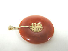 NL286 Sterling Silver-Rouge jade collier