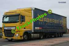 Truck Photo TR-00258 DAF XF Reg:- MWV782 Op:- Waberer's M20 Dover Lorry Kent