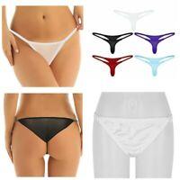 Women's Sexy Underwear Briefs Soft Panties Mini G-string Lingerie Thongs Bikini