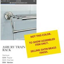 NEW IN BOX - Restoration Hardware Asbury Train Rack SATIN BRASS