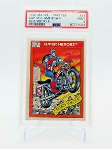1990 Marvel Universe 31 Captain America's Motorcycle MINT PSA 9 Impel
