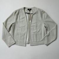 NWT J.Crew 365 Boucle Blazer in Salt Pepper Multi Open Knit Jacket L $98