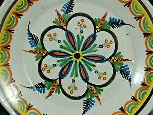 EARLY FAIENCE PLATE MAIOLICA FRENCH PORTUGAL INFO WELCOME - VERY RARE   S