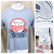 Vintage 1987 Sneakers Minnesota Twins (Large) World Series Rayon Graphic T-Shirt