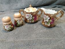 Vintage Lefton's Exclusives Japan Creamer Sugar Salt And Pepper Set