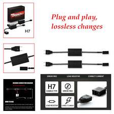 2x H7 LED Headlight flashing Anti Flicker Resistor Canceller Decoder HID Lamp