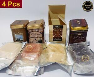 4× Hemani  musk jamid Solid Perfume & Amber & Black musk Halal Fragrance Arabic