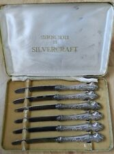 Vintage Sterling Silver by Silvercraft Boxed Set of 6 Knives